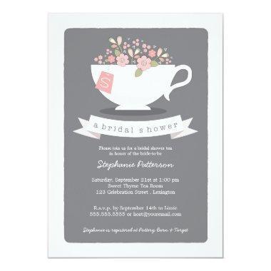 Sweet Teacup Pink Floral