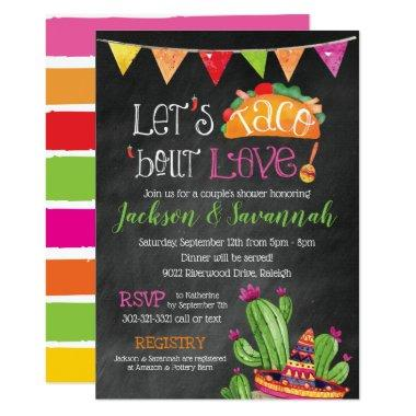 Taco bout Love - Chalkboard Bridal Invitations