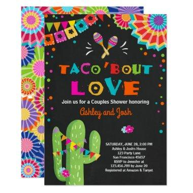 Taco Bout Love Fiesta Couples shower Invitations