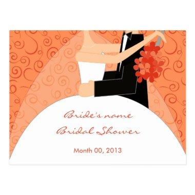 Tangerine Bridal Shower Advice Cards