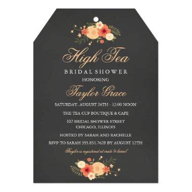 Tea Bag High Tea Bridal Shower Invitations