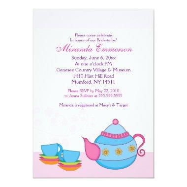 classy vintage tea party baby shower card – unitedarmy,