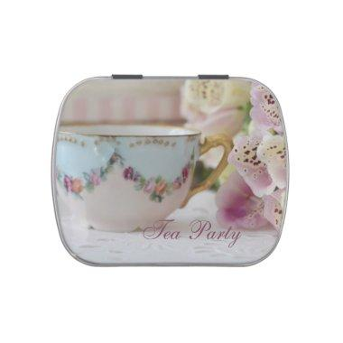 Tea Party After Dinner Mints Favors Candy Tin