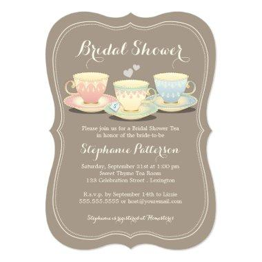 Teacup Trio Chic  Tea Party