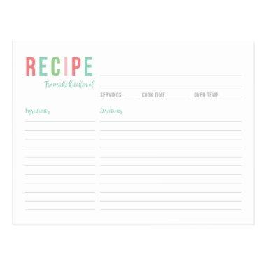 Teal and Pink  Recipe