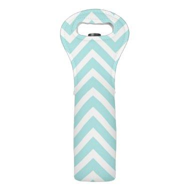Teal Chevron Wine Bag