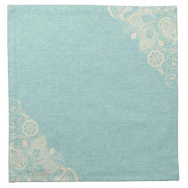 Teal Turquoise Lace Napkin