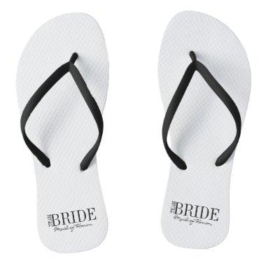 Team Bride Maid of Honor Bridal Party Flip Flops