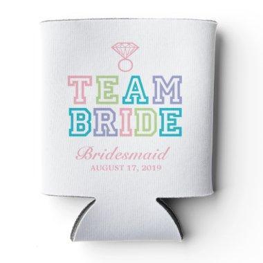 Team Bride | Wedding Can Cooler