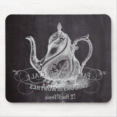 teapot vintage Chalkboard bridal shower tea party Mouse Pad