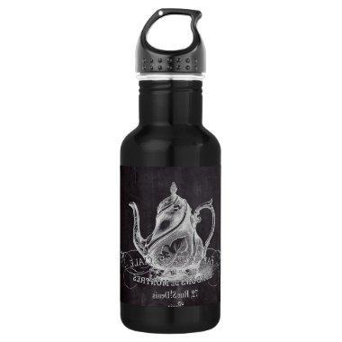 teapot vintage Chalkboard  tea party Water Bottle