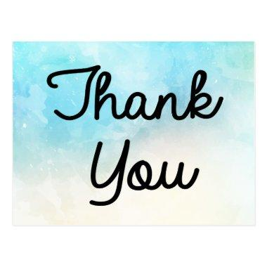Thank You Blue, Turquoise And Purple Watercolor Post