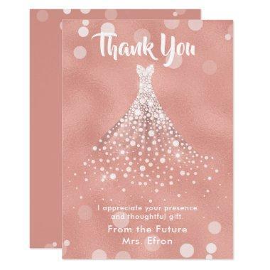 Thank You  Wedding Dress Rose Gold