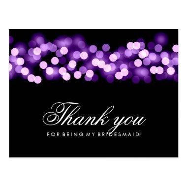 Thank You Bridesmaid Purple Hollywood Glam Post