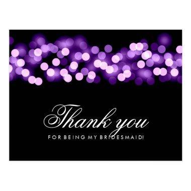 Thank You Bridesmaid Purple Hollywood Glam Post