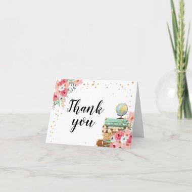 Thank you Invitations Floral Miss to Mrs Travel Adventure