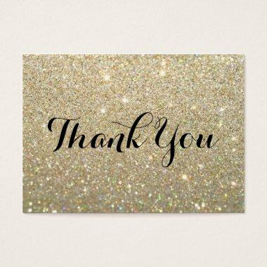 Thank You  - Gold Glitter Fab
