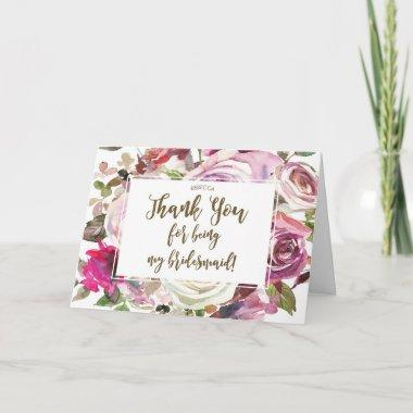 thank you for being my bridesmaid Invitations