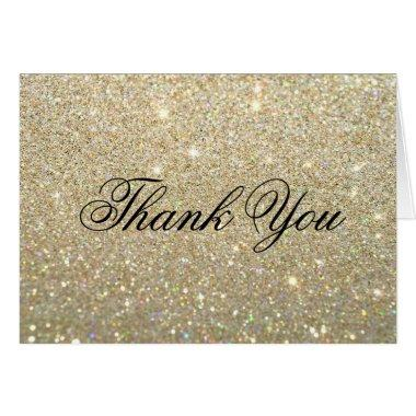 Thank You Note  - Gold Glit Fab