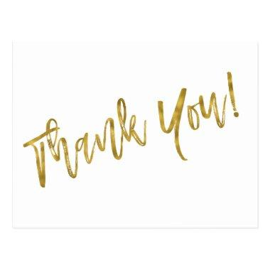 Thank You Note with Faux Gold Foil PostInvitations