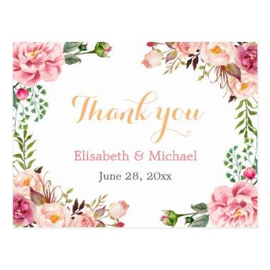 Thank You - Romantic Chic Floral Wrapped Post
