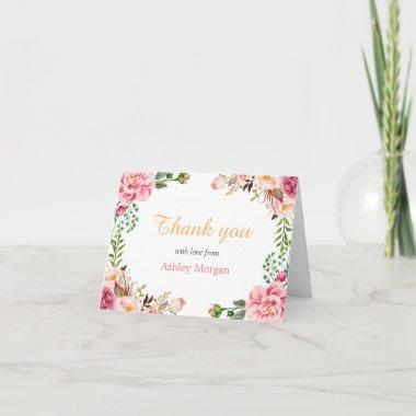 Thank You with Love Romantic Chic Floral Wrap