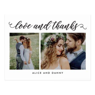 Thankful Love EDITABLE COLOR Thank You PostInvitations