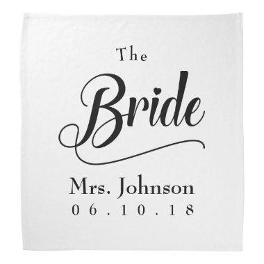 The Bride Mrs. Wedding Date Bandana