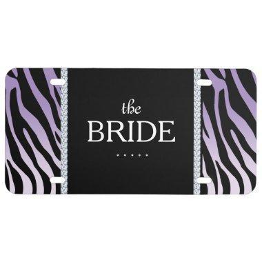 The Bride Zebra Diamond Cute Cool License Plate