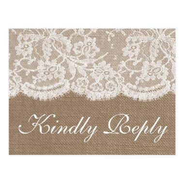 The Burlap & Lace Wedding Collection RSVP Post