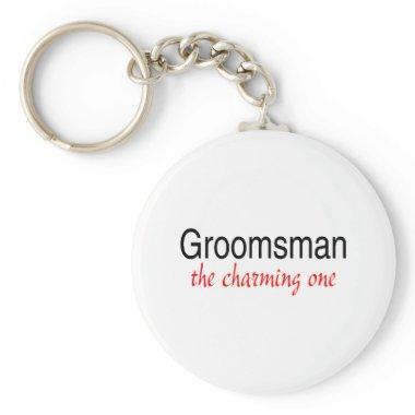 The Charming Groomsman Keychain