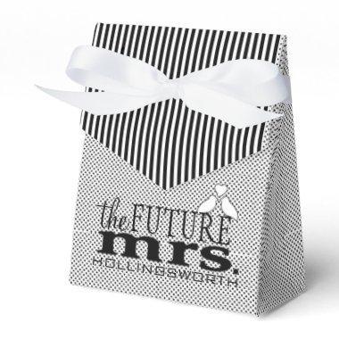 The Future Mrs. Black and White Bridal Shower Favor Box