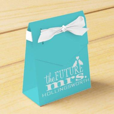 The Future Mrs. Blue and White  Favor Box