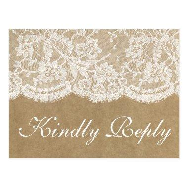 The Kraft & Lace Wedding Collection RSVP Post