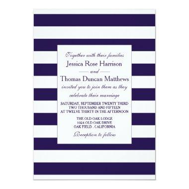 The Modern Navy Stripe Wedding Collection