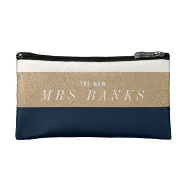 The New Mrs. Navy Blue Makeup Bag