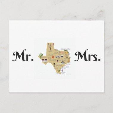 The Newlyweds PostInvitations from Texas