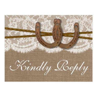 The Rustic Horseshoe Wedding Collection RSVP Post