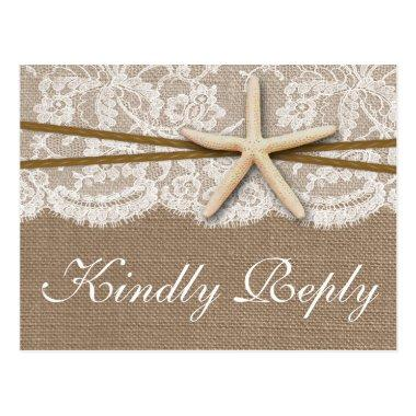 The Rustic Starfish Wedding Collection RSVP Post