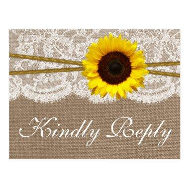 The Rustic Sunflower Wedding Collection RSVP Post