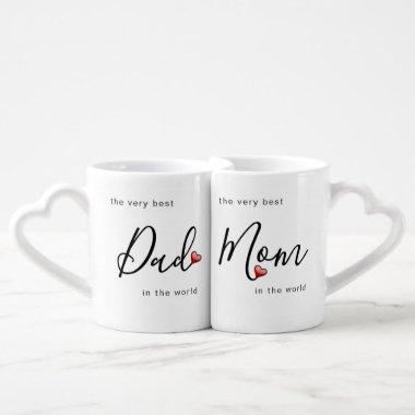 The Very Best Mom and Dad in the World with Love Coffee Mug Set