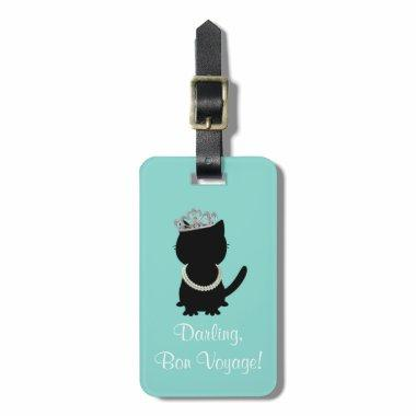 Tiara Party Tiffany Cat Luggage Tag