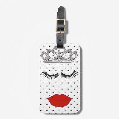 Tiara Party Where's My Lipstick Luggage Tag