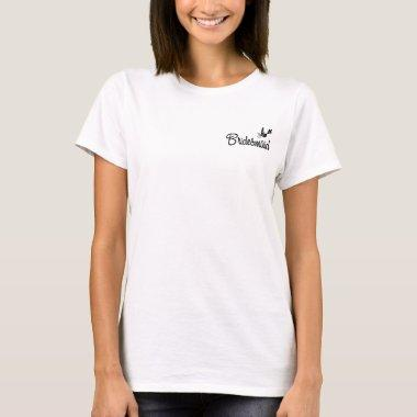 ToonDoveBridesmaidblk T-shirt