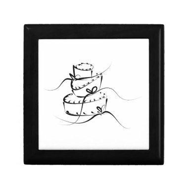 Topsy Turvy Wedding Cake Gift Box
