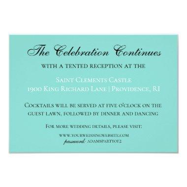 Traditional Wedding Suite Reception Insert Card