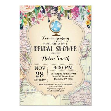 Travel Bridal Shower Invitations