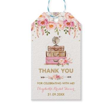 Travel Bridal Shower Miss to Mrs Thank You Favor Gift Tags