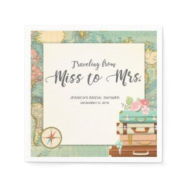 Travel  Paper Napkin Miss to Mrs