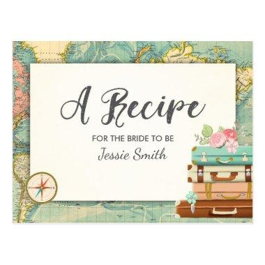 Travel Bridal Shower Recipe Invitations Miss to Mrs